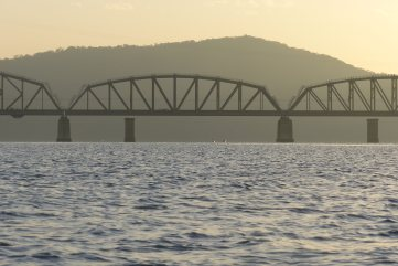 Hawkesbury River Railway Bridge at dawn