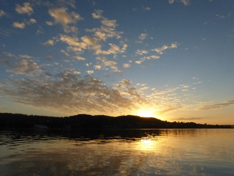 Sunrise on Lake Macquarie