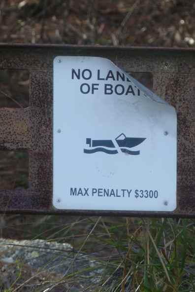 Threatening sign
