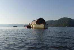 A floating barn at Parsley Bay
