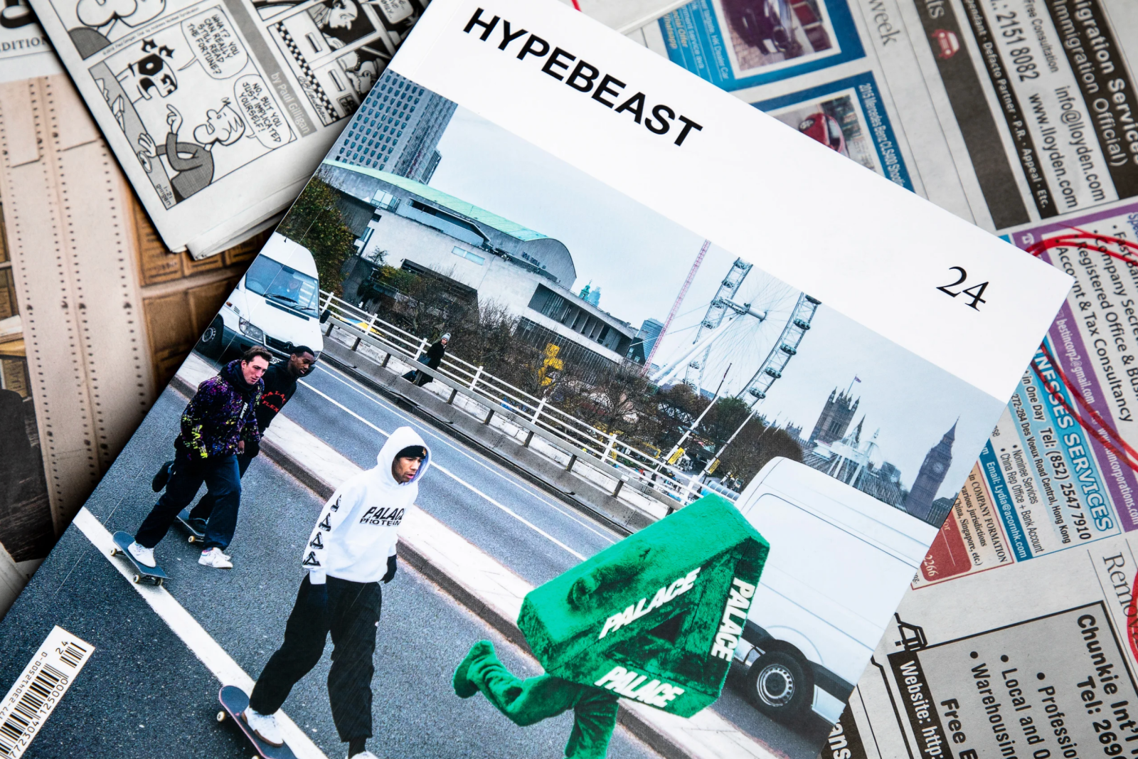 HYPEBEAST MAGAZINE'S 'AGENCY ISSUE' COVER FEATURES PALACE TEAM