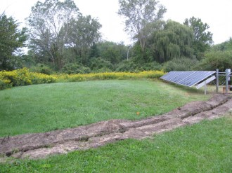 Septic System Mound & Solar Panel Installation