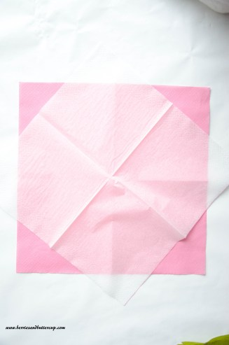 Servietten falten Kirschblüte DIY Anleitung Tischdeko (11)