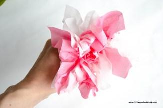 Servietten falten Kirschblüte DIY Anleitung Tischdeko (9)