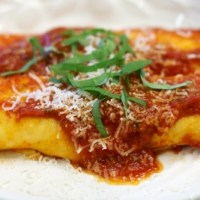 Manicotti with Fresh Basil and Parsley