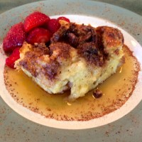 French Toast Bake with Fresh Strawberries