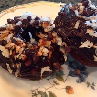 Baked Chocolate Coconut Doughnuts