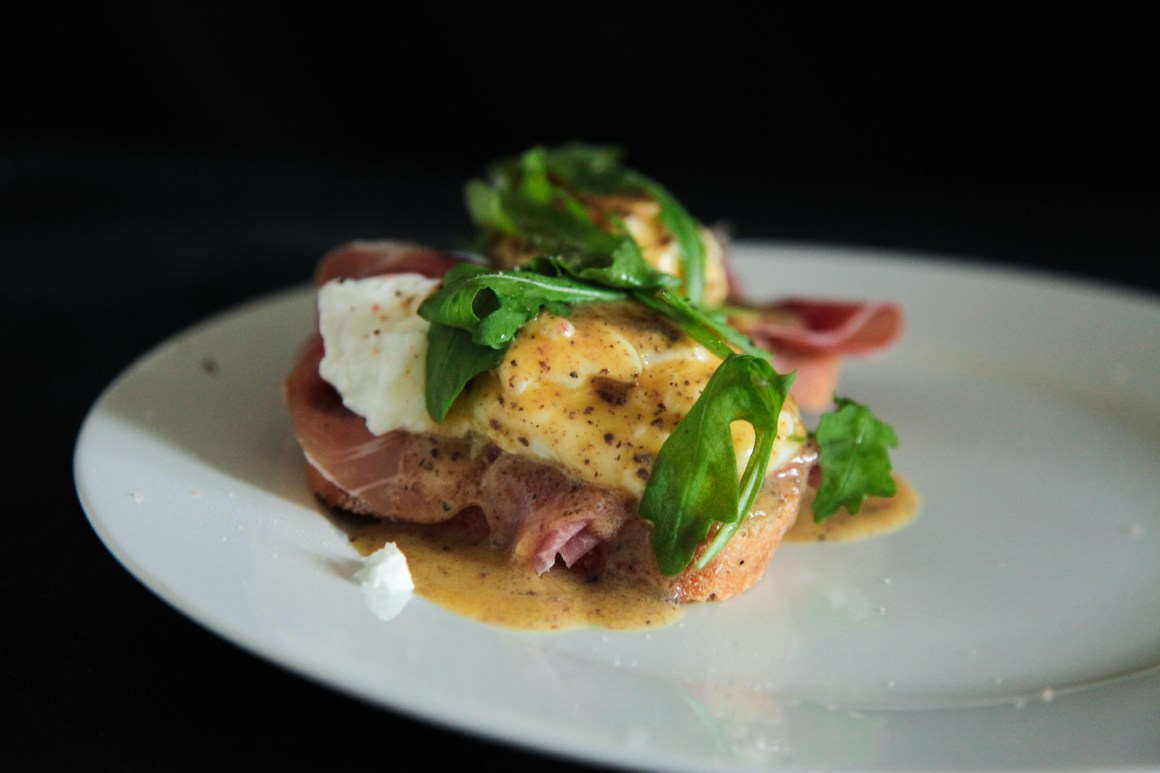 Decadent truffled Eggs Benedict