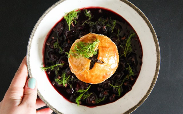 Pulled Venison Pies with Gin and Juniper Berries
