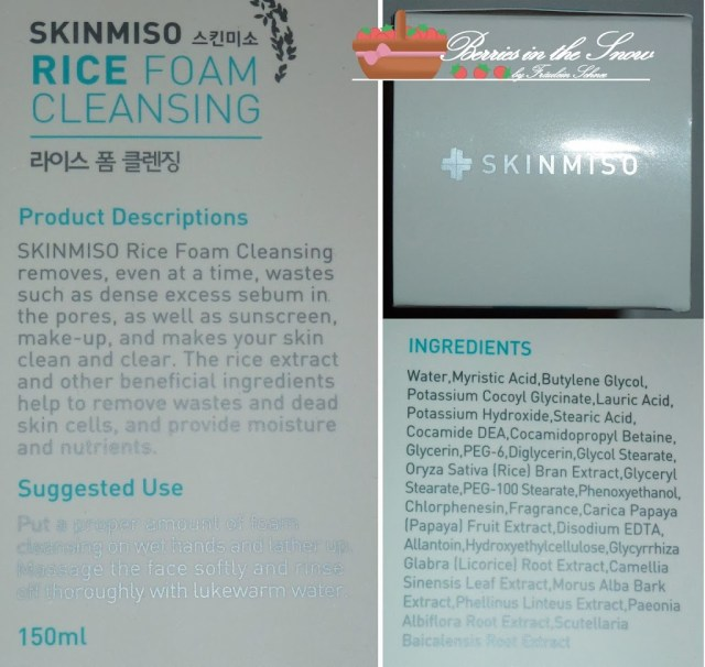 Skinmiso Rice Foam Cleanser