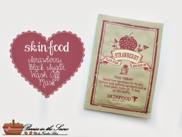 Skinfood Strawberry Black Sugar Wash-Off Mask