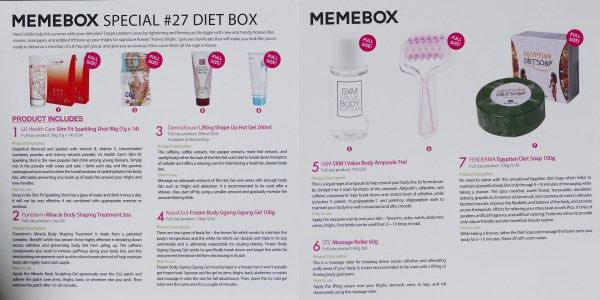 Unboxing: MeMeBox Diet Box