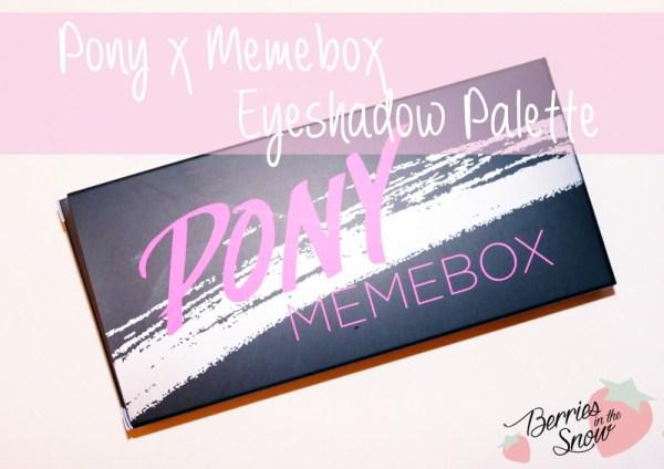 Pony x Memebox Eyeshadow Palette