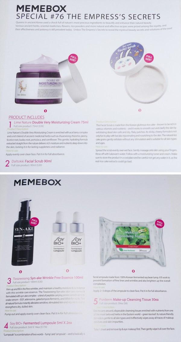 Unboxing: MeMeBox The Empress's Secrets
