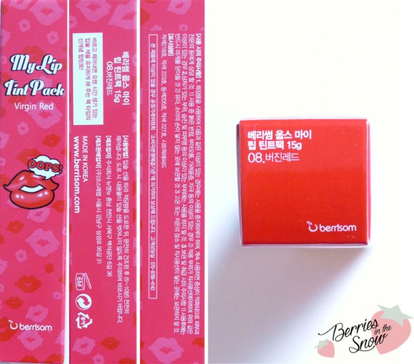 Berrisom My Lip Tint Pack and Lip Tint Cleanser
