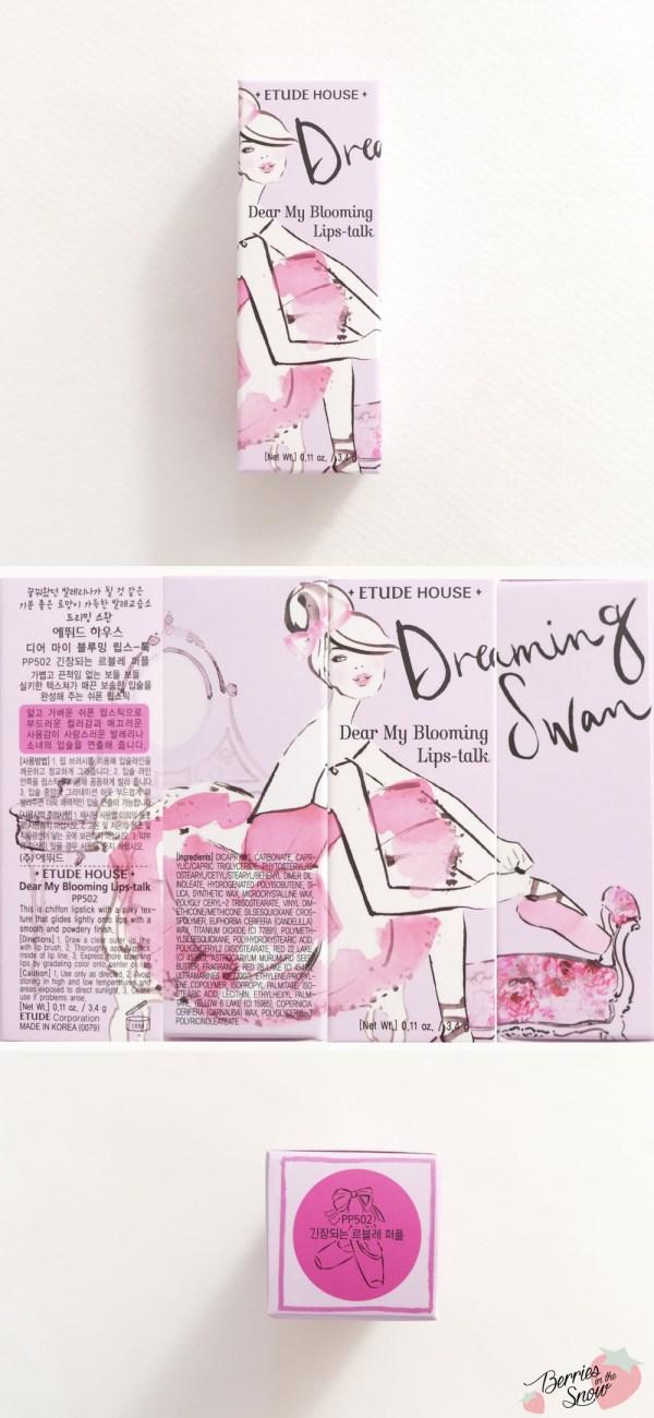 Etude House Dreaming Swan My Blooming Lips-talk