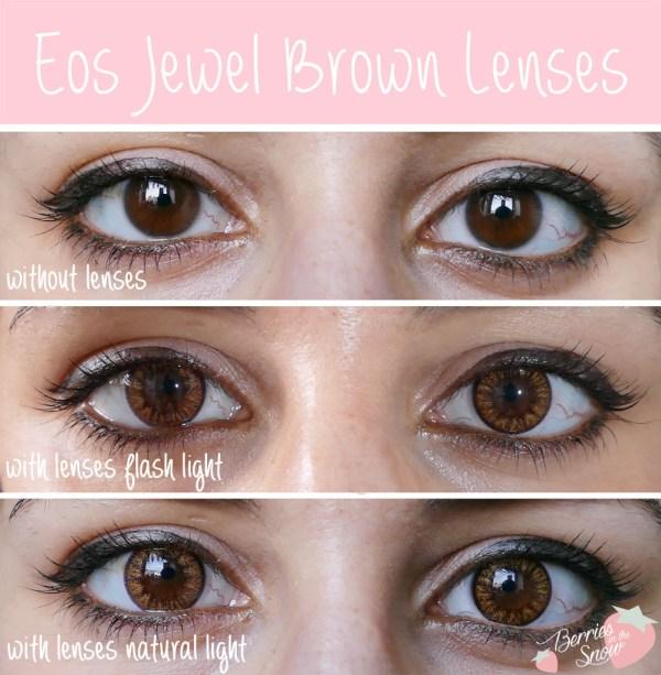 Eos Jewel Brown Lenses
