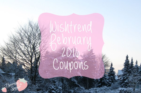 Wishtrend February 2016 Coupons