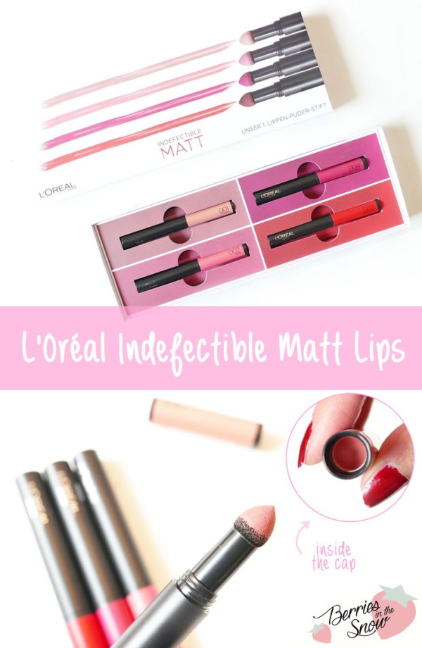 L'Oréal Indefectible Matt Lippen-Puder-Stifte