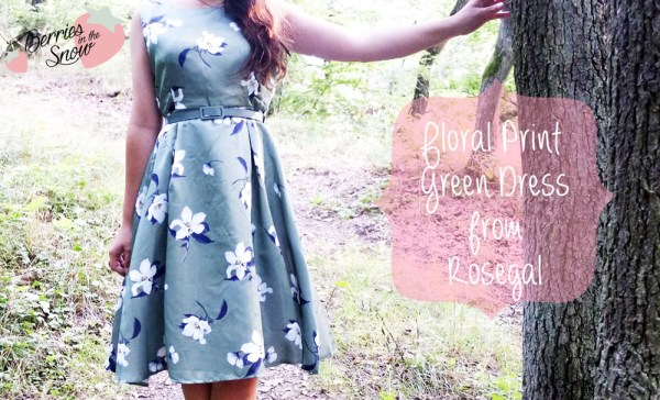 Floral Print Green Dress | Rosegal