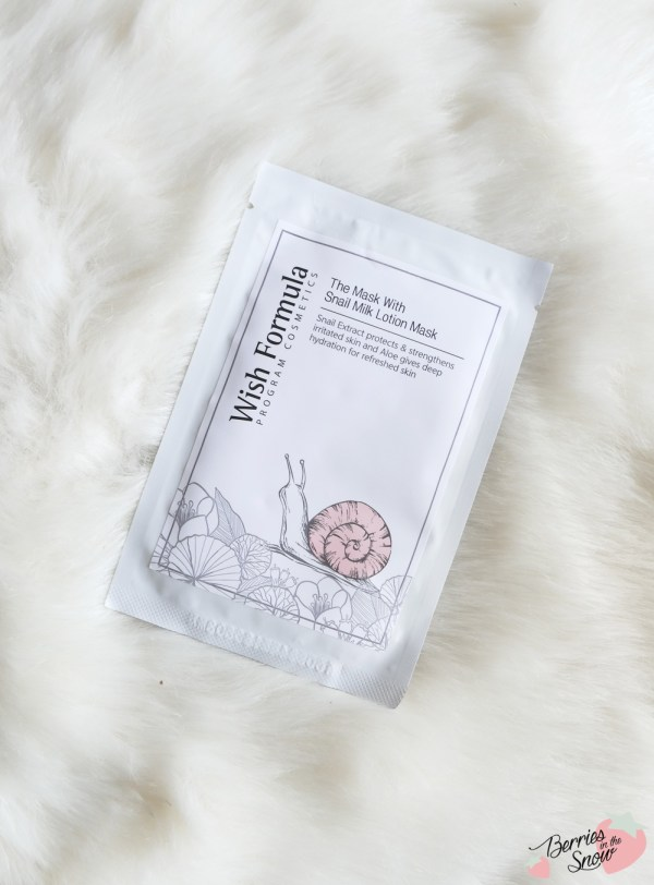 Wish Formula The Mask With Snail Milk Lotion
