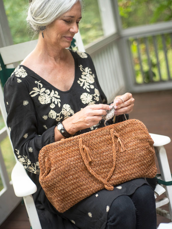 Ponderosa free bag knitting pattern