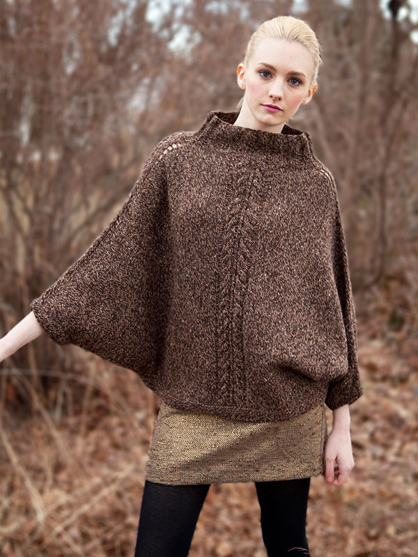Blish poncho knitting pattern from Berroco