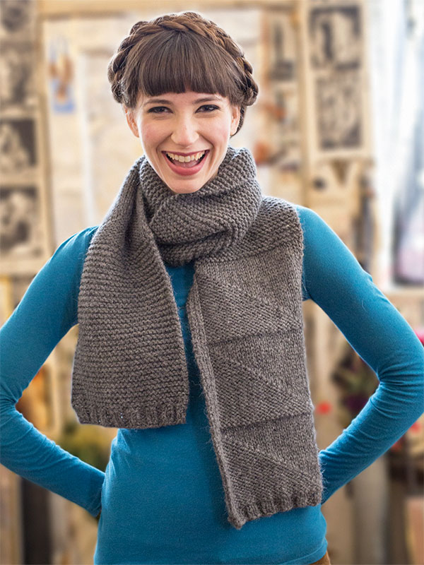 Casa Sonia free scarf knitting pattern in Berroco Ultra Alpaca Chunky