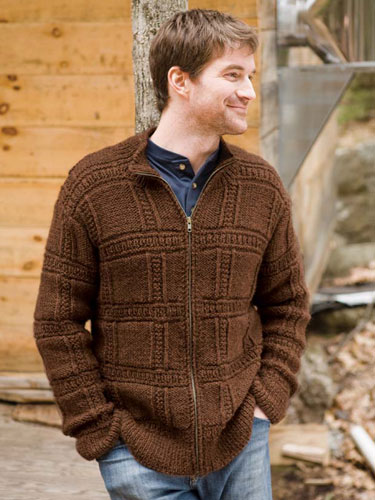 Jura men's sweater knitting pattern in Berroco Ultra Alpaca