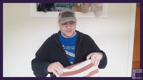Andy B 2 Minute Video, Stripey Fabric and Usefulness