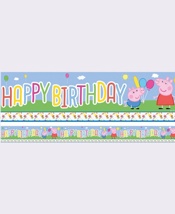 Peppa Pig Birthday Banner Berry Crazy Party Shop