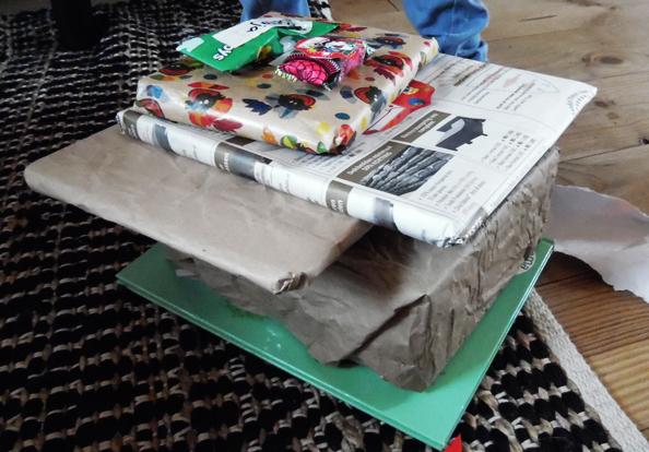 ecoklaas hergebruikt kado papier