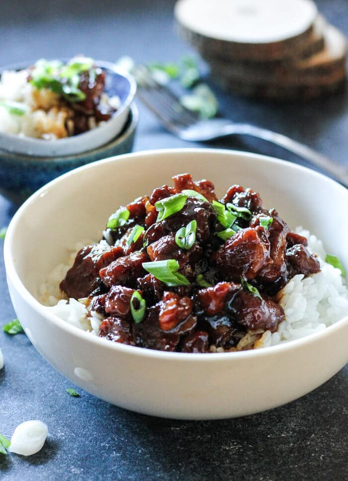 sweet caramelized pork with rice recipe