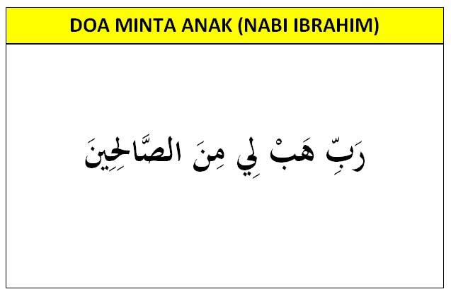 Doa minta anak Nabi Ibrahim
