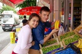 Turks stel bij de groentenboer, Vize, Turkije