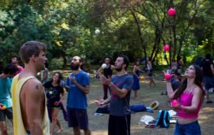 5 ball practice in festival