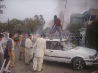 Emeutes Faisalabad Au Penjab Pakistanais Fvrier 2010