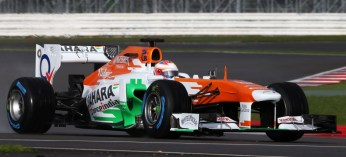 Paul di Resta drives the VJM06 at Silverstone - Photo: Force India