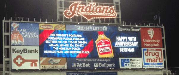 Indians-Scoreboard