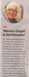 Expositie Nieuwe Oogst Het Klooster - de Gelderlander 21 juli 2016
