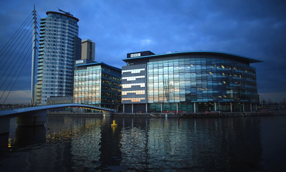 An image of a BBC building