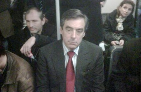 François Fillon dans le RER