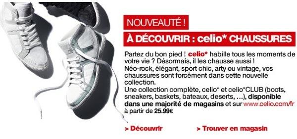 Privé de la nouvelle gamme de chaussures Celio