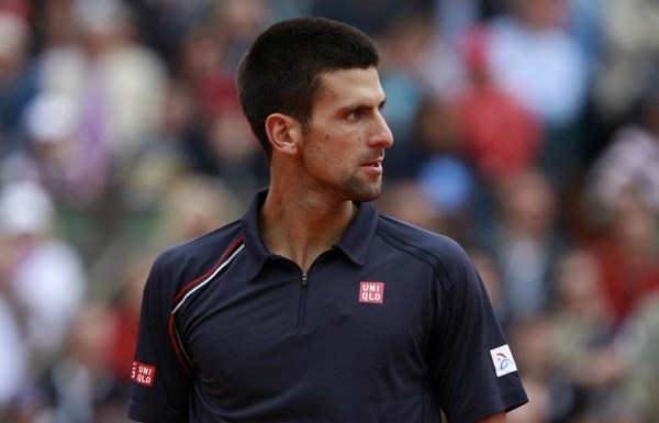Novak Djokovic habillé en Uniqlo