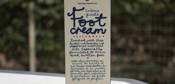 Crème pour les pieds Natural Products