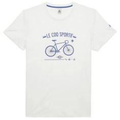 coq-sportif-tshirt-velo-blanc