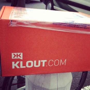 Vendredi 24 mai : reçu un cadeau Klout