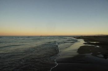 Dimanche 11 août : coucher de soleil à la plage