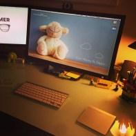 Lundi 6 janvier : photo en faite prise le dimanche après avoir rangé mon bureau pour bien démarrer l'année de travail le lundi