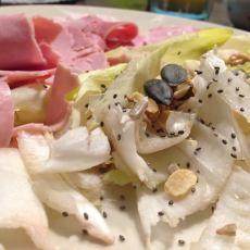 Salade, jambon et graines